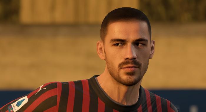 Лицо Alessio Romagnoli для FIFA 20