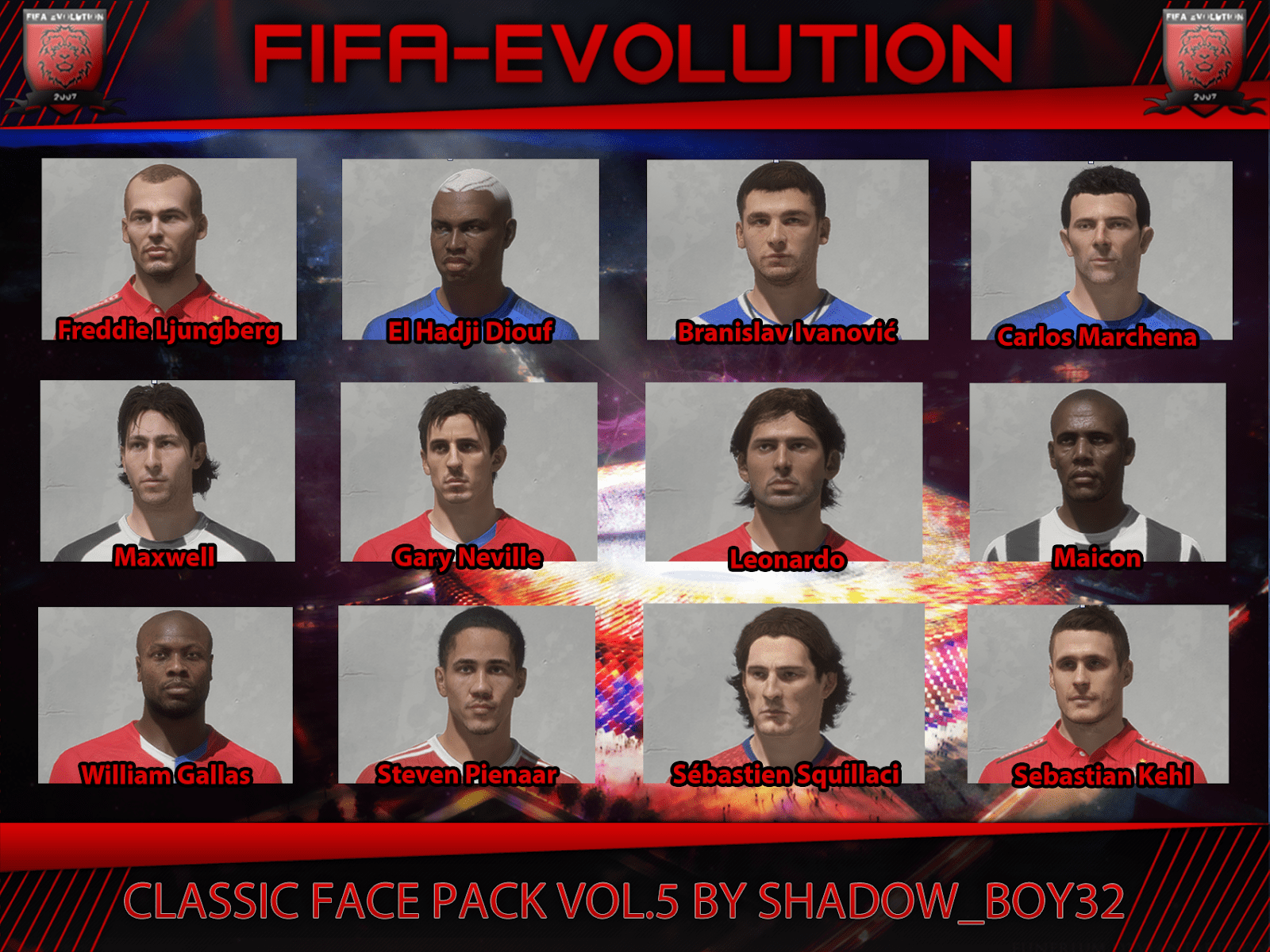 Classic converted face pack vol. 5
