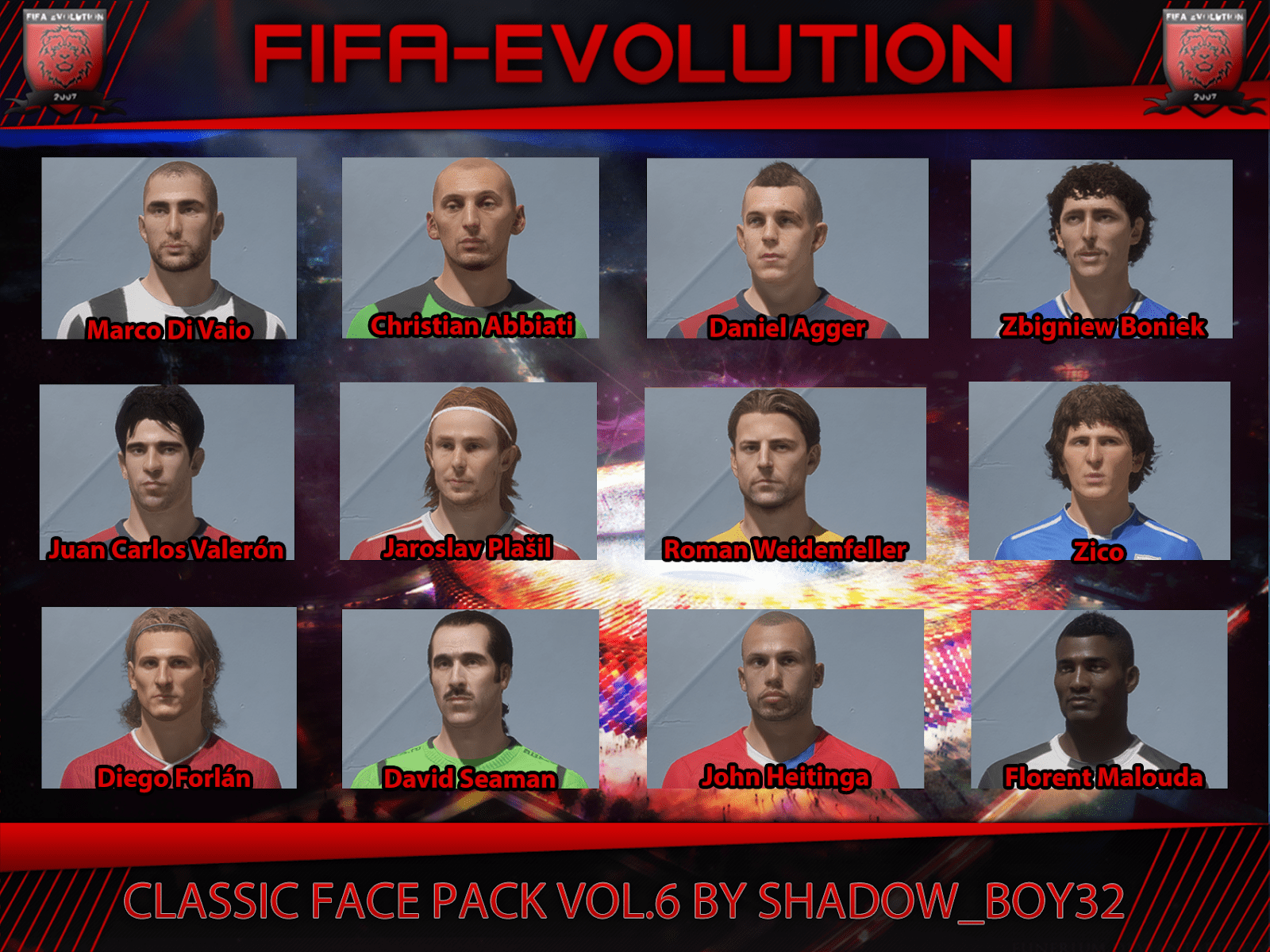 Classic converted face pack vol. 6