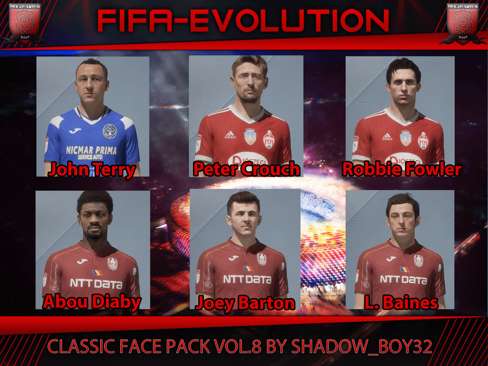 Classic converted face pack vol. 8