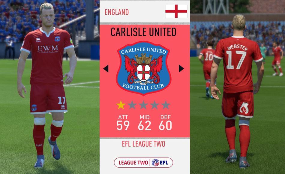 Carlisle United: Fantasy Third Kit for 2019-2020 Season