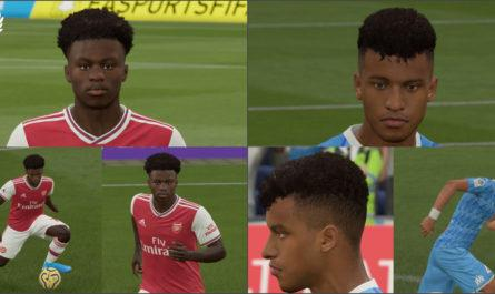 Kamara and Saka face