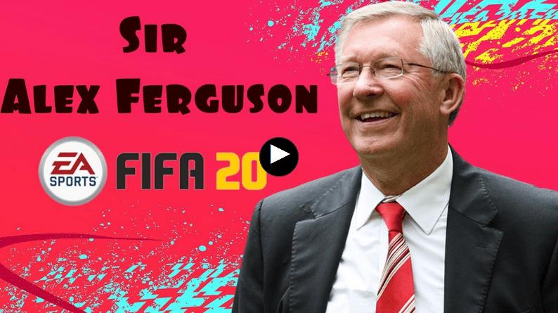 """""""FIFA 20"""" Сэр Алекс Фергюсон в качестве тренера"""