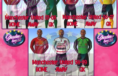 Manchester United Classic Kit Pack by ShadowBoy32 for FIFA 20